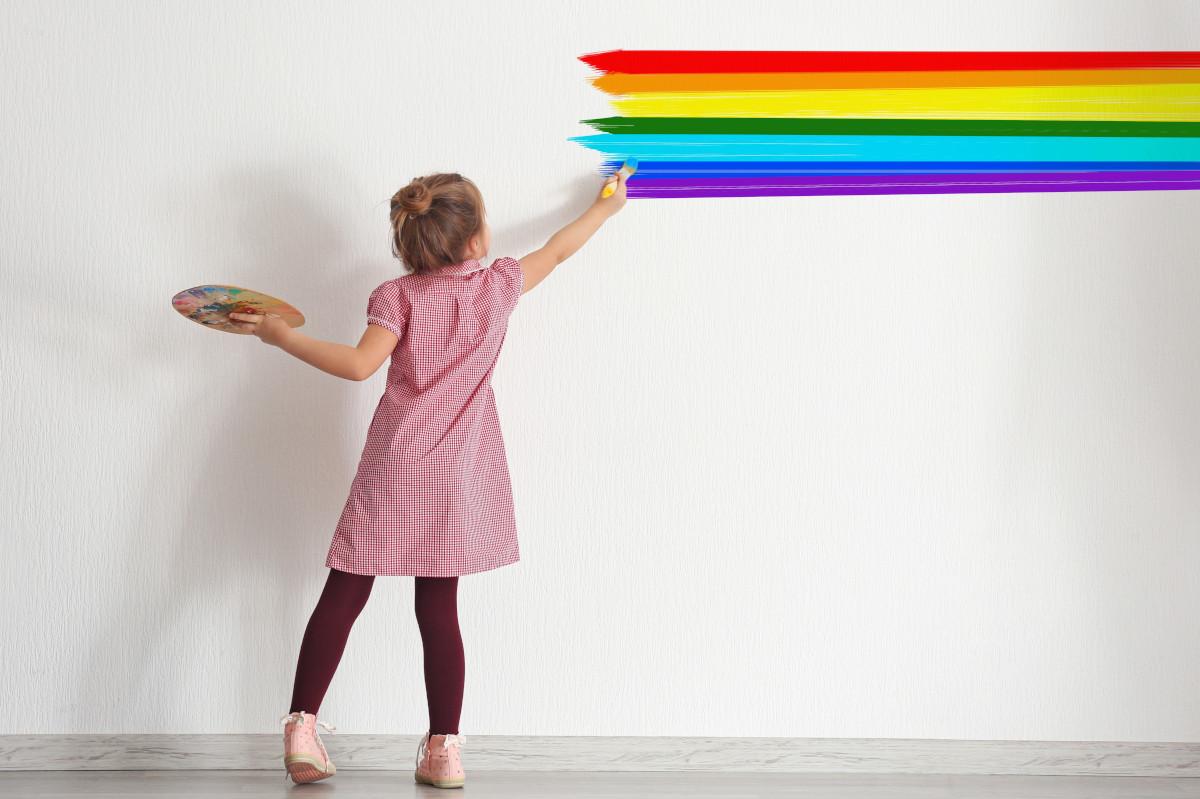 I benefici di dipingere le pareti insieme ai bambini