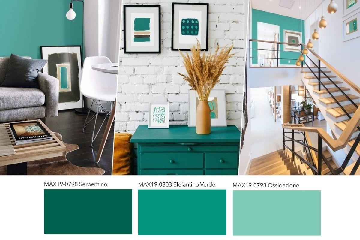 Pareti in verde per una casa di tendenza