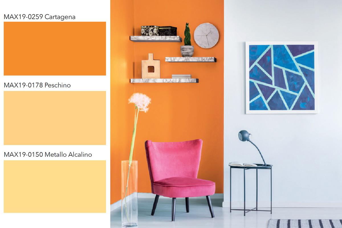 Pareti in arancio per una casa di tendenza - ColorEmotion